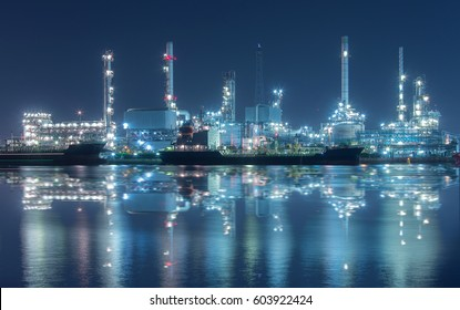 Bangchak oil refinery at Bangkok ,Thailand