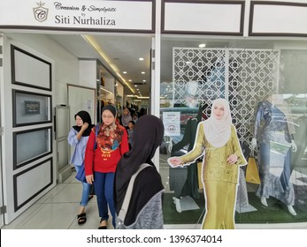 Bangi, Malaysia - 13/5/2019 : People crowded at Siti Nurhaliza's boutique in Bangi Sentral. Siti Nurhaliza is Malaysia's top famous singer in the country