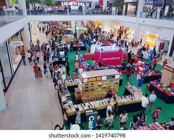 Bangkaew, Samut Prakarn / Thailand - June 10, 2019: People Shopping at Sport Store at Mega Bangna Department Store