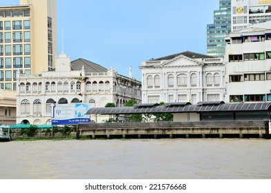 BANGKOK - 1 September 2012 : An old building of East Asiatic in Thailand. This building was constructed with Western style for a logistic company in an old time. It is located by The Chaopraya River