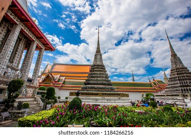 Bangkok: 26 August 2018, tourists, come to Wat ArunRatchawaram Ratchaworamawihan, a valuable religious place. The Chao Phraya River is a beautiful and priceless temple, Thailand.