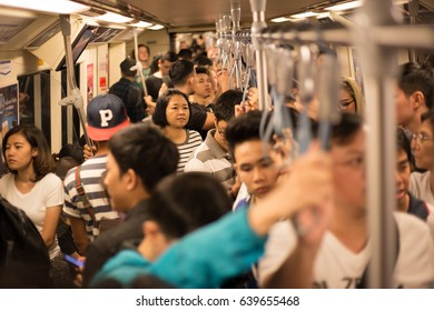 Bangkok, 31/12/2016: end of year 2016 Bangkok There were many people in mass transit railway, because it was no cost on this day.
