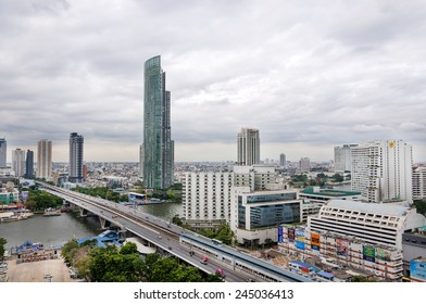 BANGKOK 5 December : Bangkok view , Bangkok is the capital and the most populous city of Thailand. It is known in Thai as Krung Thep Maha Nakhon. on 5 December 2014 Bangkok Thailand.