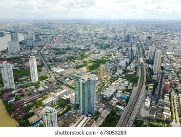 Bangkok aerial view from the drone