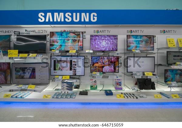 Bangkok Apr 30 Samsung Led Tv Stock Photo (Edit Now) 646715059