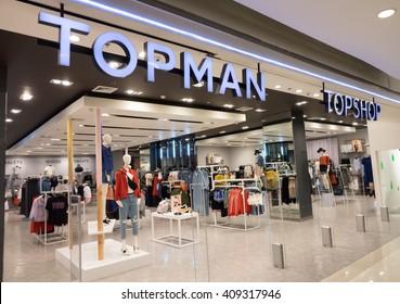 BANGKOK- April 21, 2016: Topshop store. Top shop is a British fashion retailer with more than 500 shops worldwide. ,Bangkok, Thailand
