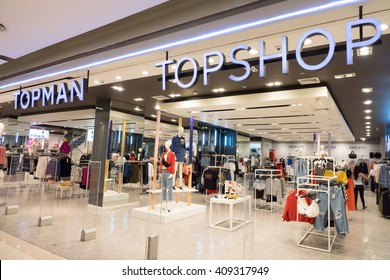 BANGKOK- April 21, 2016: Topshop store. Top shop is a British fashion retailer with more than 500 shops worldwide. ,Bangkok, Thailand