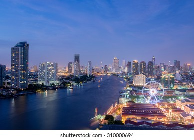 Bangkok, Asiatique Riverfront Night shopping place in Bangkok. Popular attraction place in Asia.