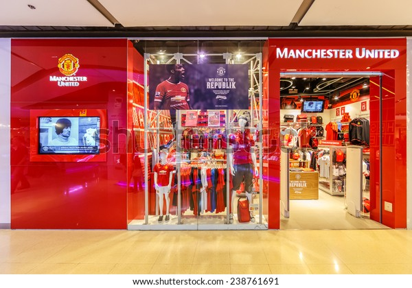 reputable site 5c6a7 ddaa8 Bangkok Aug 11 Manchester United Shop Stock Photo (Edit Now ...