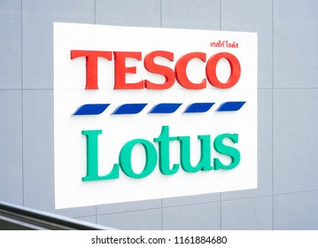 Bangkok - Aug 18, 2018 : A photo of Tesco Lotus superstore Onnut branch in Bangkok, Thailand. Tesco PLC is a British multinational grocery & general merchandise retailer & 1 of the biggest in Britain.