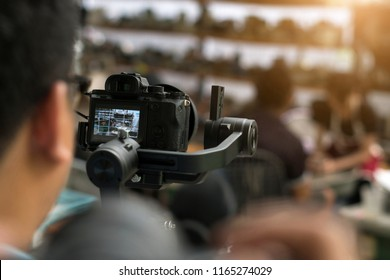 BANGKOK. August 27,2018; Professional video technician.Videographer by event.