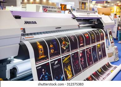 BANGKOK - AUGUST 29 : Mimaki printing  machines at Pack Print and T-PLAS THAILAND on Aug 29,2015 in BITEC ,Bangkok, Thailand.