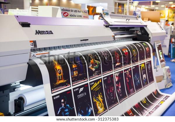 Bangkok August 29 Mimaki Printing Machines Stock Photo (Edit