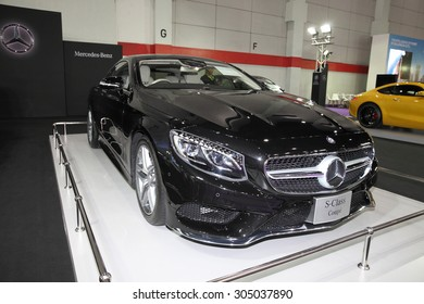 BANGKOK - August 4: Mercedes Benz S-Class Co[pe car on display at Big Motor sale on August 4, 2015 in Bangkok, Thailand.