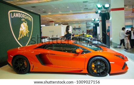 Bangkok August 7 2015 Lamborghini Aventador Stock Photo Edit Now