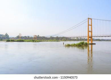 Bangkok Bicentennial Bridge over Ping river at Tak province, Thailand