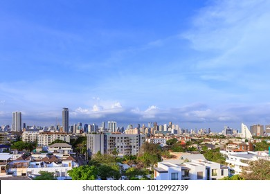 Bangkok business district cityscape with skyscraper, Thailand