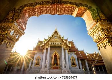 Bangkok City - Benchamabophit  dusitvanaram temple from Bangkok Thailand