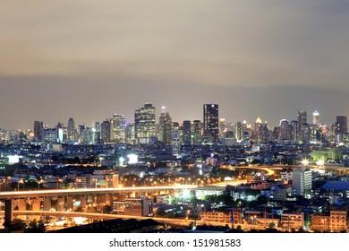 Bangkok city scape at nighttime