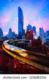 Bangkok city skyline and Bangkok business district, Bangkok Thailand