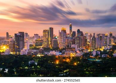 bangkok city skyline downtown
