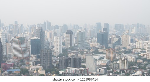 Bangkok city Thailand air pollution remains at hazardous levels on 2019 - minute dust and smoke level high