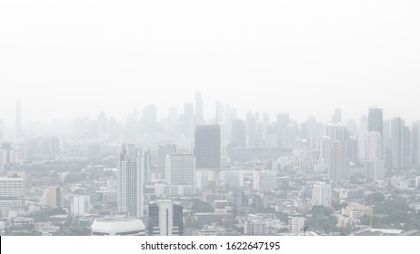 Bangkok City Thailand air pollution remains at hazardous levels PM 2.5  pollutants - minute dust and smoke level high