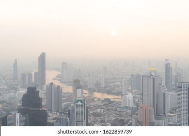 Bangkok City Thailand air pollution remains at hazardous levels PM 2.5  pollutants - dust and smoke high level PM 2.5