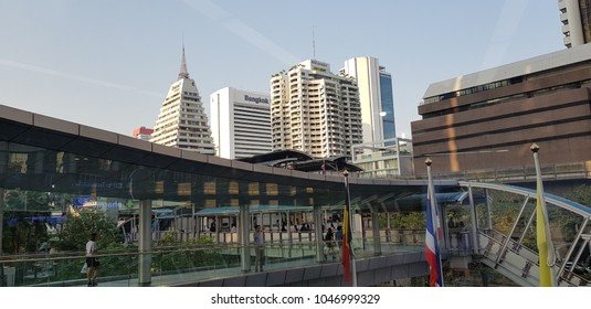 Bangkok city, THAILAND -March 15: A city view on an afternoon of March 15,2016. It is a downtown of Bangkok.