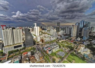 Bangkok City top view