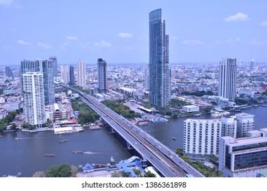 Bangkok city view in Thailand