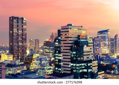 Bangkok cityscape at twilight, Thailand