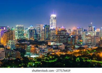 Bangkok cityscape at twilight, Thailand