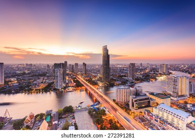 Bangkok cityscape, view from high building