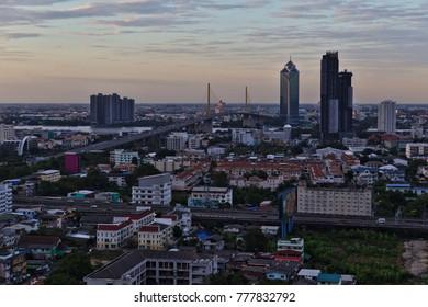 Bangkok - Dec 17, 2017: The sun rises over the Thai capital.