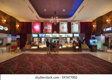 BANGKOK- DEC 18 : Snack bar at Major Cineplex in Central Pinklao on Dec 18, 2016 in Bangkok, Thailand..