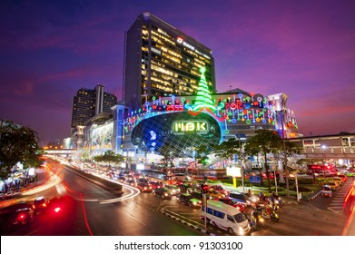 "BANGKOK - DEC 20: MBK's most famous shopping mall in Thailand, organize Welcome to Christmas and New Year festival 2012 on December 20,2011 at ""MBK"" Bangkok,Thailand"
