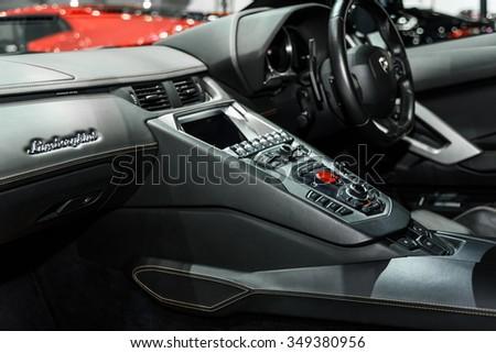 Bangkok December 01 Inside Lamborghini Aventador Stock Photo Edit