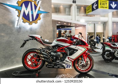 BANGKOK - December 10, 2018 : MV Agusta F3 675 RC Limited Edition on display at Bangkok thailand international motor expo 2018(Motor expo) in Thailand