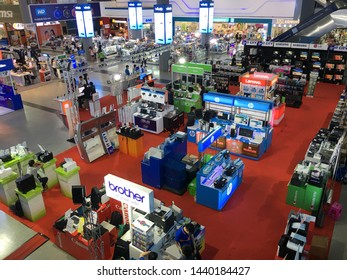 BANGKOK - DECEMBER 12, 2017: IT City store in Pantip Plaza. Pantip Plaza is a major source of unauthorized copies of software with software for both Windows and Mac readily available