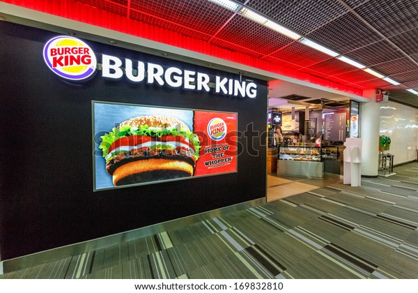 BANGKOK - DECEMBER 18: Burger King sign in Don Mueang International Airport on Dec 18, 13 in Bangkok. It is considered to be one of the worlds oldest international airports.