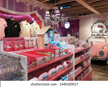 BANGKOK - DECEMBER 2017: Hello Kitty store in Siam Square One mall. Hello Kitty is one of the most successful marketing brands in the world produced by the Japanese company Sanrio