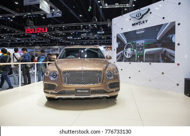 BANGKOK - December 3: Bentley Bentayga car on display at Motor Show 2017 on December 3, 2017 in Bangkok, Thailand.