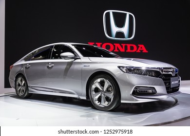 BANGKOK - December 9, 2018 : honda accord 2019 on display at Bangkok thailand international motor expo 2018(Motor expo) in Bangkok, Thailand