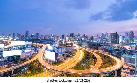 Bangkok Expressway and Highway top view