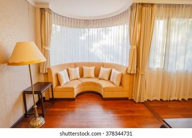 BANGKOK - FEB,18 : A classic Sofa in a luxury interior home that made of wood .THAILAND FEB,18 2016