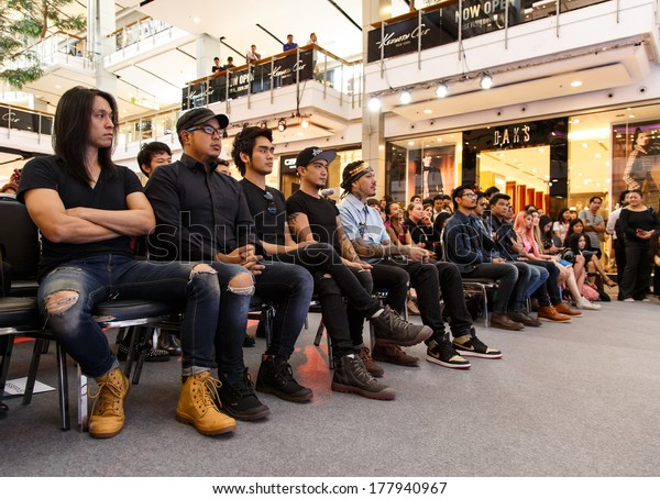 BANGKOK - FEBRUARY 19 2014: MTV Exit Press Conference in Central World Plaza Bangkok with high profile bands and US and Australian Ambassador's for upcoming charity concert in Udon Thai, Thailand