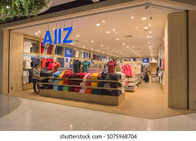 BANGKOK - JAN 10: AIIZ store at Central Salaya, Bangkok on Jan 10, 2018. It is a owned manufacturer of clothing and was founded in 1995.