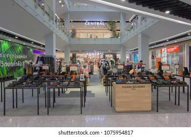 BANGKOK - JAN 10: Display of shopping counter at Central Rama3, Bangkok on Jan 10, 2018. It is a shopping complex, owned Central Pattana and was the first inegrated shopping complex of Central Pattana