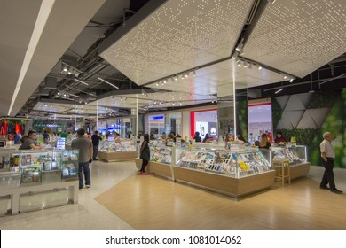 BANGKOK - JAN 10: Mobile phone zone at Central Rama3, Bangkok on Jan 10, 2018. It is a shopping complex, owned Central Pattana and was the first inegrated shopping complex of Central Pattana